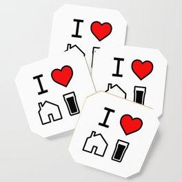 I Heart Homebrew Coaster