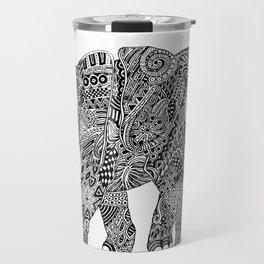 Snakelephant Indian Ink Hand Draw Travel Mug