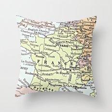 F R A N C E Throw Pillow