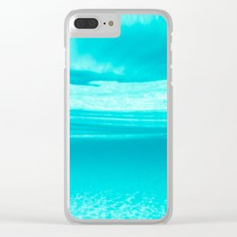 Underwater blues Clear iPhone Case