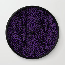 Deep Purple Leopard Skin Pattern Wall Clock