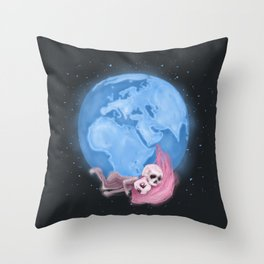 Lost in a Space / Homeckly Throw Pillow