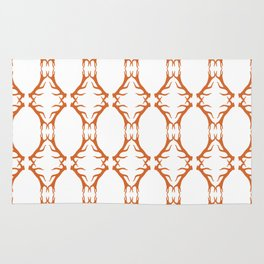 Modern Antler: Orange Rug