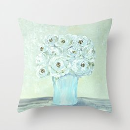A Saturday Bouquet Throw Pillow