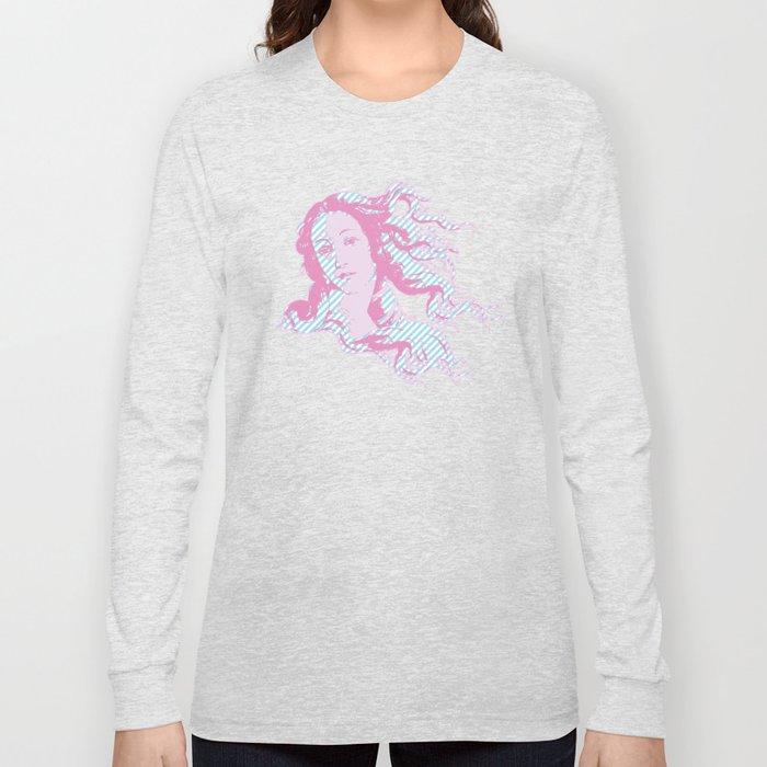 Rebirth of Venus - Pink & Cyan - Trans Pride! Long Sleeve T-shirt