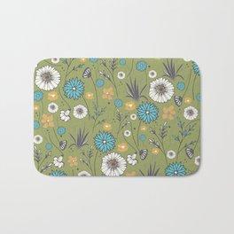 Emma_Wildflowers in Avocado Green Bath Mat