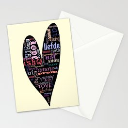 Multilingual Love Stationery Cards
