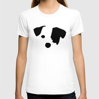 jack russell T-shirts featuring Jack Russell Dog Breed by Maria Faith Garcia