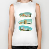 hollywood Biker Tanks featuring Hollywood Bungalows by Hand Drawn Creative
