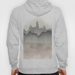Abstract Watercolor, Black, Brown, Grey Hoody