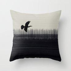 Anhinga Florida Everglades Throw Pillow