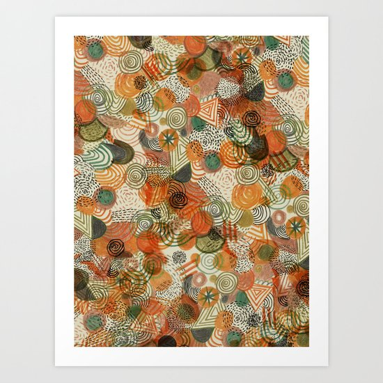 Tomatoes and pickles  Art Print