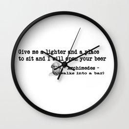 Archimedes Walks Into A Bar #1 Wall Clock