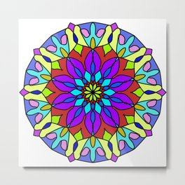 tibetan colorful mandala Metal Print