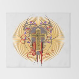 The Cross at Sunrise Throw Blanket