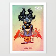 Z gang - Firestarter - Villains of G universe Art Print