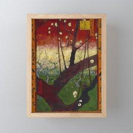 Flowering plum orchard by Vincent van Gogh, 1887 Framed Mini Art Print