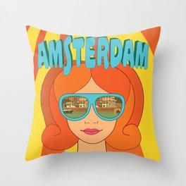 Amsterdam,Holland Throw Pillow