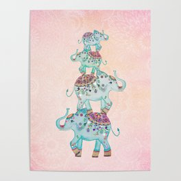 LUCKY ELEPHANTS Poster