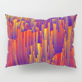 Fiery Rain - Pixel Abstract Art Pillow Sham