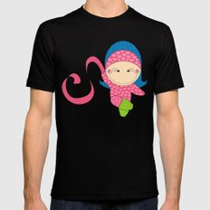 Ballerina -- Fun, sweet, unique, creative and very colorful, original,digital children illustration Mens Fitted Tee SMALL Black