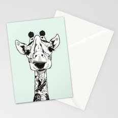 Giraffe Tattooed  Stationery Cards