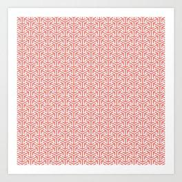 Living Coral Pattern IV Art Print