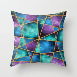 Space Abstract Geometric Throw Pillow