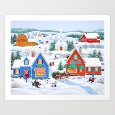 Wintertime in Sugarcreek Art Print