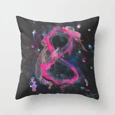 8 - infinity, abundance, success in business, Modern Feng Shui Throw Pillow