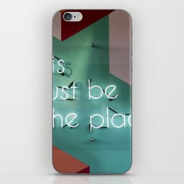Right Here iPhone Skin