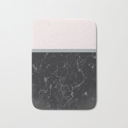 Grey Black Marble Meets Romantic Pink #1 #decor #art #society6 Bath Mat