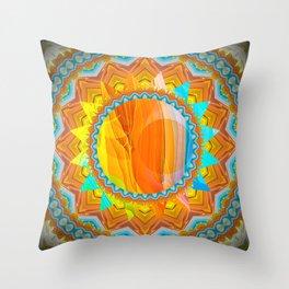Moon and Sun Mandala Design Throw Pillow