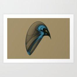 Fractal Bird with Sharp Beak Art Print
