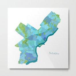 Philadelphia Neighborhoods Metal Print