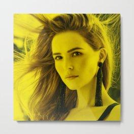 Zoe Deutsch - Celebrity (Florescent Color Technique) Metal Print