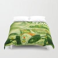 senna Duvet Covers featuring Ayrton Senna Tribute by TheToonPlanet