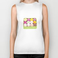 macarons Biker Tanks featuring Macarons by Rachel Zaagman
