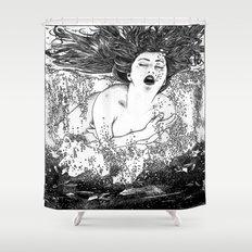 asc 512 - La noyade (The drowning) Shower Curtain
