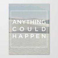 ellie goulding Canvas Prints featuring Anything Could Happen / Ellie Goulding by Justified