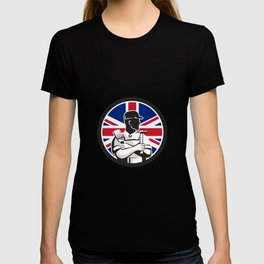 British DIY Expert Union Jack Flag Icon T-shirt