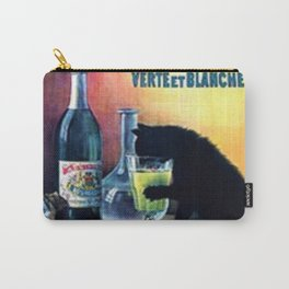 Marque Deposee Bat Cat Drinking Absinthe Bourgeois Lithograph Wall Art Carry-All Pouch