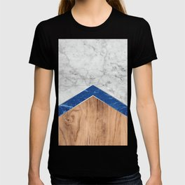 Arrows - White Marble, Blue Granite & Wood #436 T-shirt