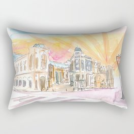 Rodeo Drive Scene Beverly Hills Los Angeles Rectangular Pillow