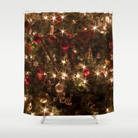 christmas tree Shower Curtains featuring Christmas tree. by Assiyam