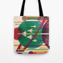 NASA Retro Space Travel Poster #5 Tote Bag