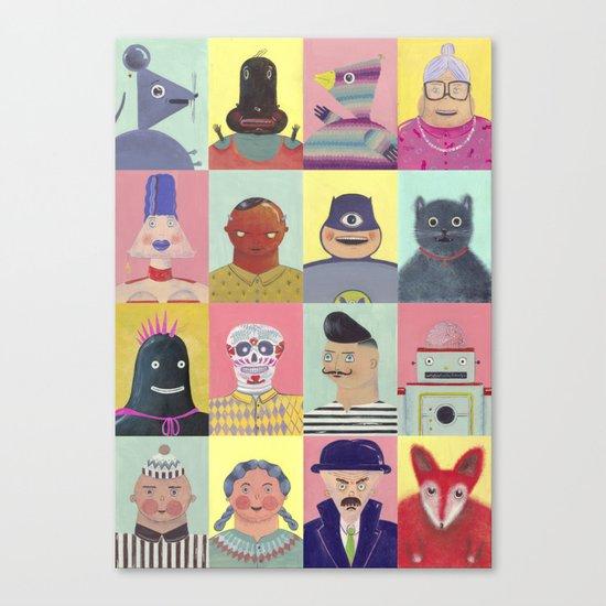 bobbies friends Canvas Print
