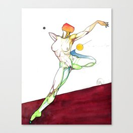 The Russian, female surrealist ballerina, NYC artist Canvas Print