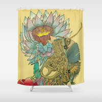 writer Shower Curtains featuring The Writer by Theo Szczepanski