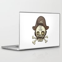 pirate Laptop & iPad Skins featuring pirate by adi katz